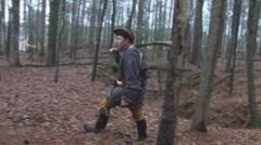 American Pioneer Frontier - stock footage