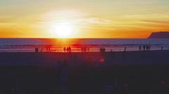 Sunset Time Lapse Coronado California Stock Footage