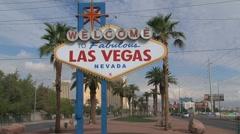 Las Vegas Sign Stock Footage