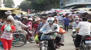 Stock Video Footage of CAMBODIA-MARKET-TRAFFIC 1