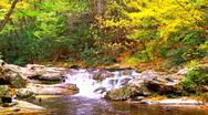 Autumn waterfall 04 Stock Footage