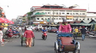 Stock Video Footage of CAMBODIA-MARKET-TRAFFIC 2