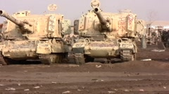 Tank Graveyard Iraq 3 Stock Footage