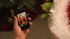 Video Chatting on Smartphone 2002 Stock Footage