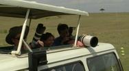 Photographers savana Stock Footage