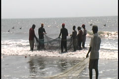 Colombian Fishermen 6 Stock Footage