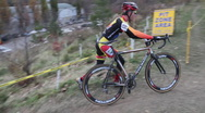 Stock Video Footage of Cyclocross race. Hillclimber.