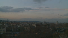 Rome City view with Swarm of Swallows in the background Stock Footage