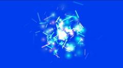 Dazzling sticks particle flying splash molten steel golden matches. Stock Footage