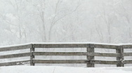 Stock Video Footage of Snowy Fence