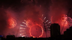 Fireworks London Eye - stock footage