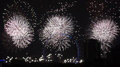 Stock Video Footage of Fireworks London Eye