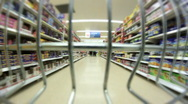 Grocery Shopping Stock Footage