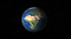 Earth zoom in on jerusalem Stock Footage
