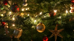 Christmas Tree Ornaments Stock Footage