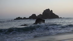 Pfeiffer Beach at dusk Stock Footage