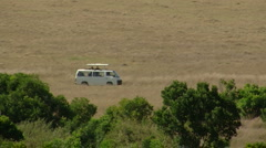 Savana game drive P1 Stock Footage