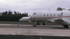 Puerto Rico - Private Executive and Millionaire Jet Planes 3 on Runway HD Stock Footage