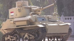 Baby tank in Iraq 2 Stock Footage