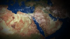 Earth zoom out fro Tel-Aviv Stock Footage