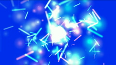 Blue swirl lights,dazzling sticks and particle flying,matches,holiday,wind,Firec Stock Footage