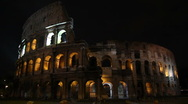 Stock Video Footage of Coliseum by night