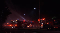 LA Fire Crews and trucks LAFD Stock Footage
