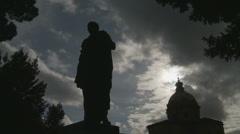 Julius Caesar statue (Shillotte) in Rome Stock Footage