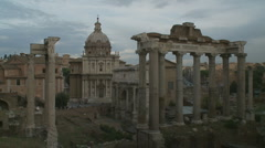 Ancient Forum in Rome Stock Footage