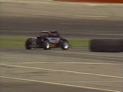 motorsports, legend stock car race spin out - stock footage