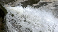 Stock Video Footage of White water gushing over the falls