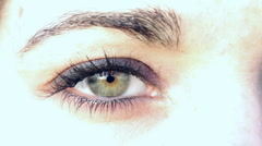 Bright close up of one Eye Stock Footage