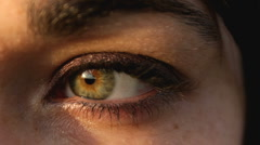 Single eyeball close up from female Stock Footage