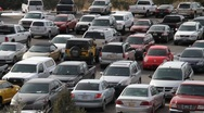 Packed Parking Lot Stock Footage