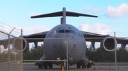 C17 Global Master Cargo Military Airplane 1 HD Stock Footage