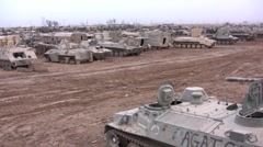 Tank Graveyard Iraq 2 Stock Footage