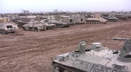 Stock Video Footage of Tank Graveyard Iraq 2