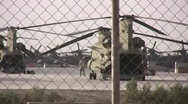 Stock Video Footage of Iraqi cargo helicopters