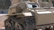 Stock Video Footage of Baby tank in Iraq 3