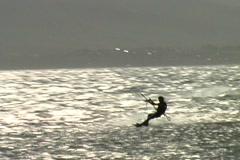 Kitesurf-kite loop seq2 Stock Footage