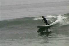 Baja Sur-San Carlos surf wave Stock Footage