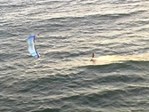 Stock Video Footage of Kitesurf aerial tracking-close