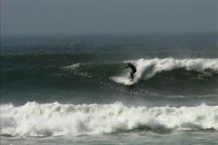 Baja surf -waveB Stock Footage