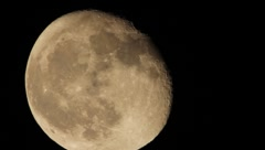 Moon Close-Up HD Stock Footage