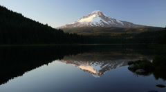 Trillium Lake and Mt. Hood Stock Footage