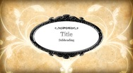 Title plate flourishes Stock Footage