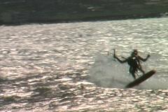 Kitesurf-powered forward-slash n air Stock Footage