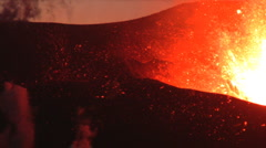 Stock Video Footage of Volcanic Eruption