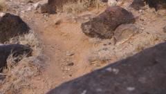 Petroglyph National Monument  9496 Stock Footage