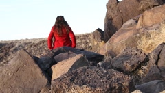 Petroglyph National Monument  9469 Stock Footage
